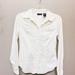 NY&Co white women's long sleeve shirt size small